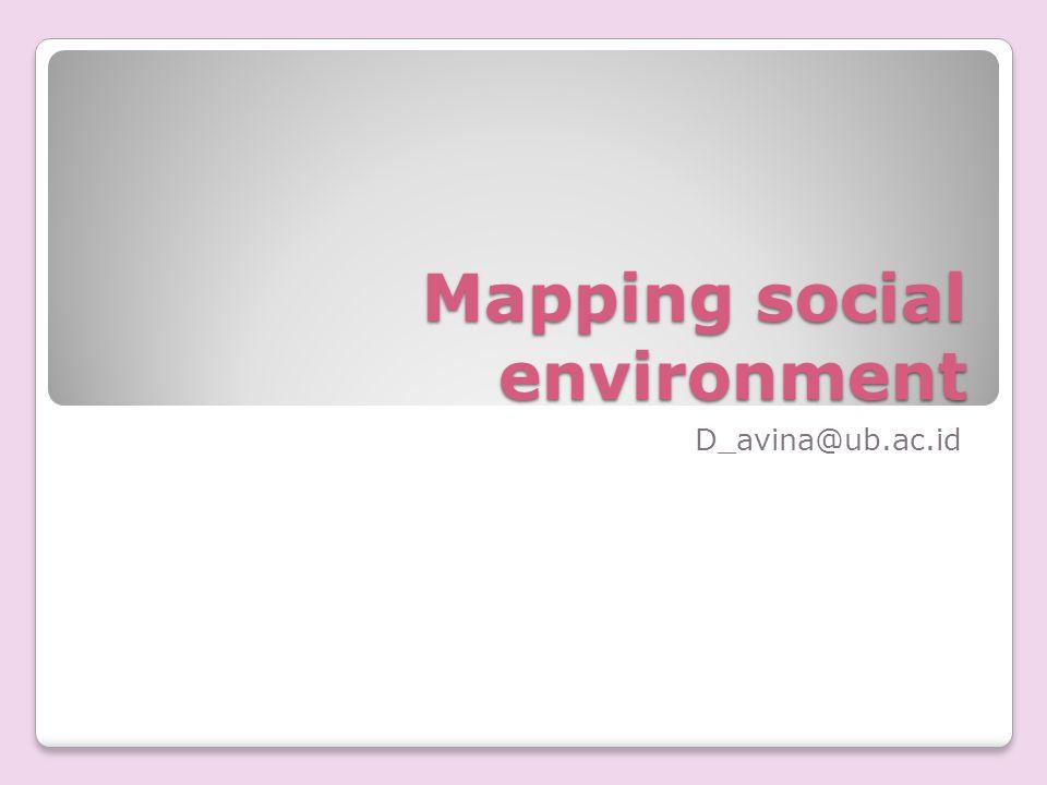 Mapping social environment D_avina@ub.ac.id