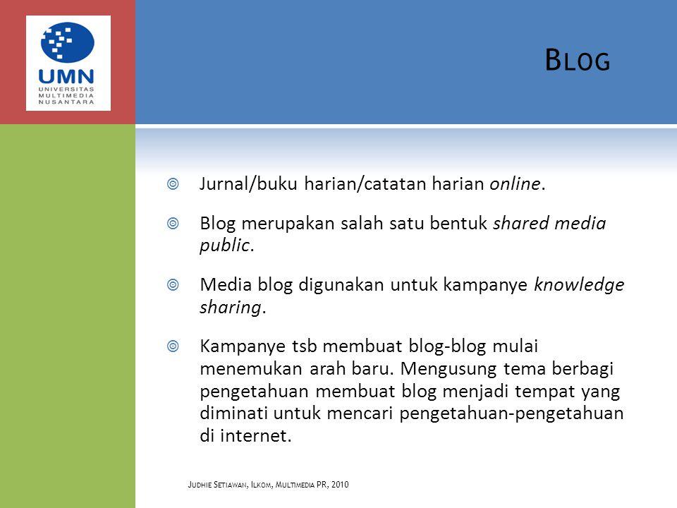K ONSEP B LOG  Secara teknis, blog dapat dikategorikan sebagai varian dari Content Management System (CMS).