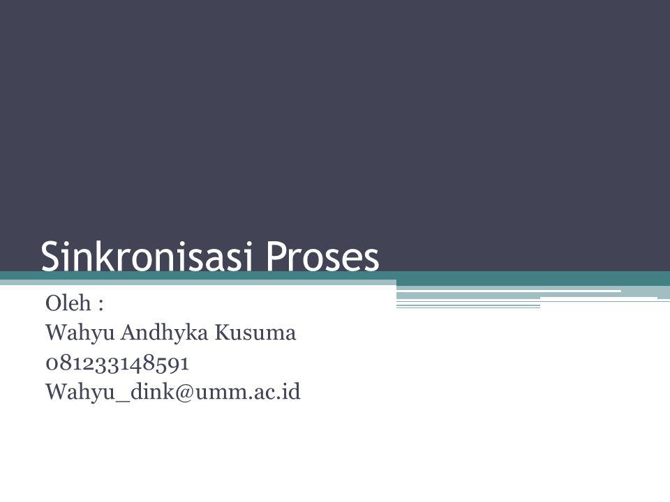 Sinkronisasi Proses Oleh : Wahyu Andhyka Kusuma 081233148591 Wahyu_dink@umm.ac.id