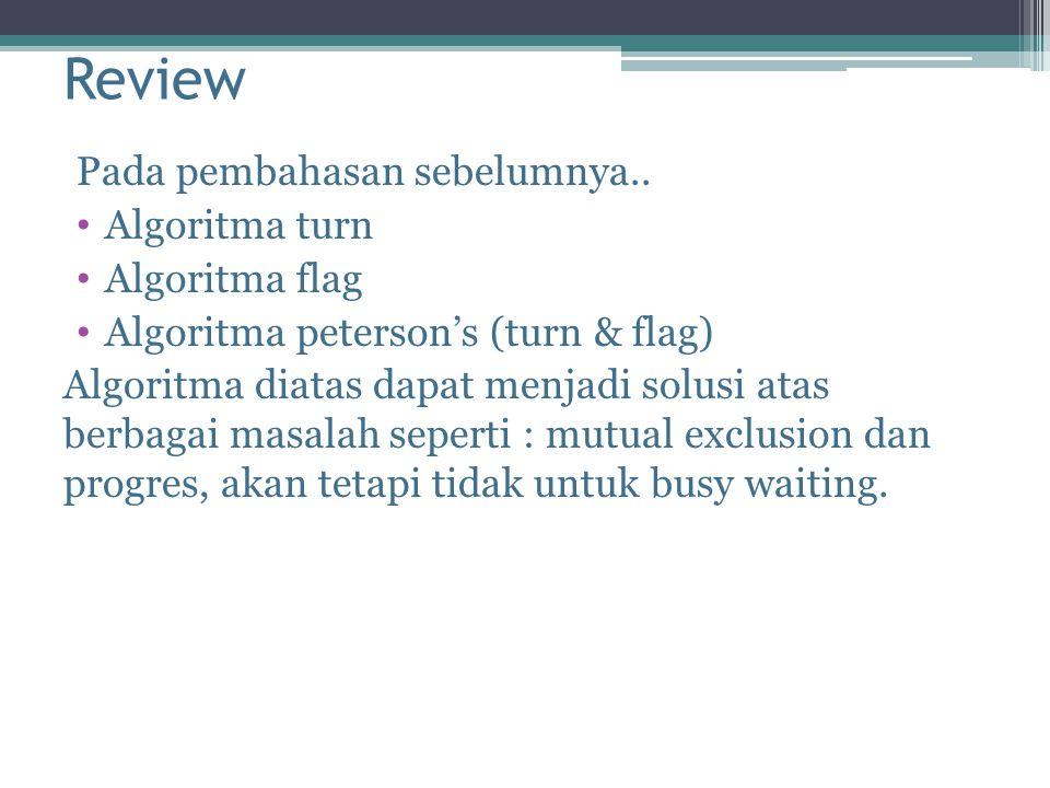 Review Pada pembahasan sebelumnya..