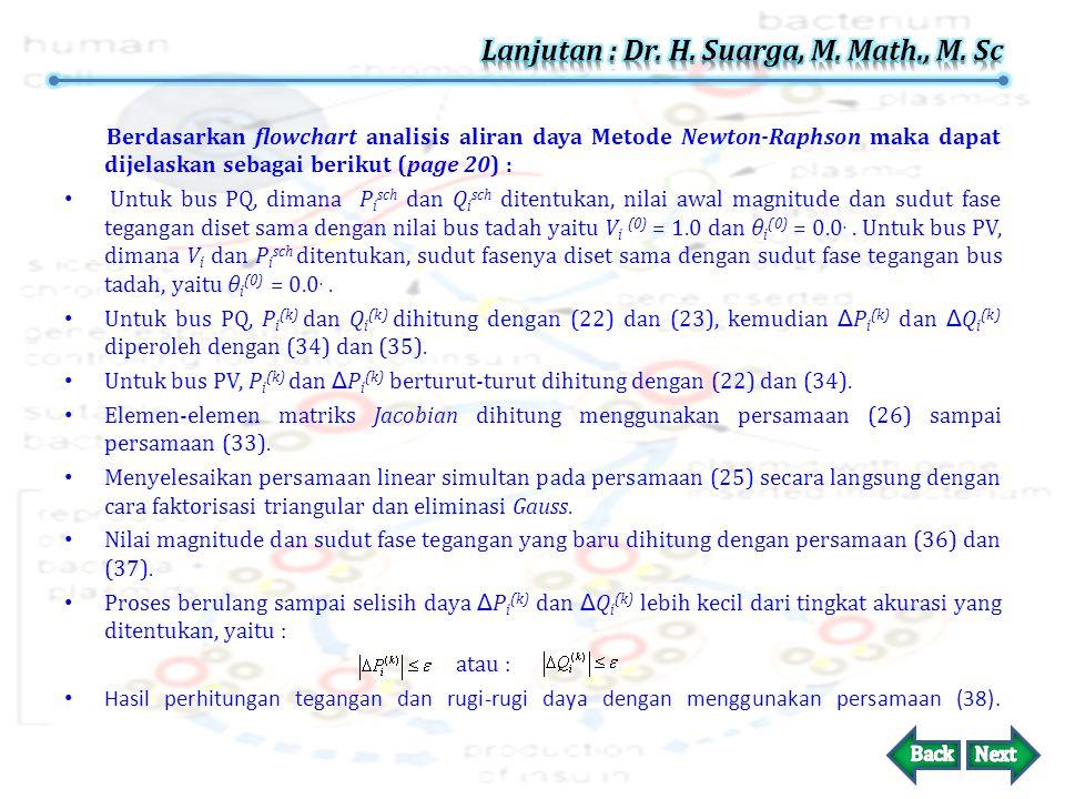 2. Lengkapi dengan flowchart untuk analisis aliran daya Metode Newton-Raphson. Solusi (page 22) :