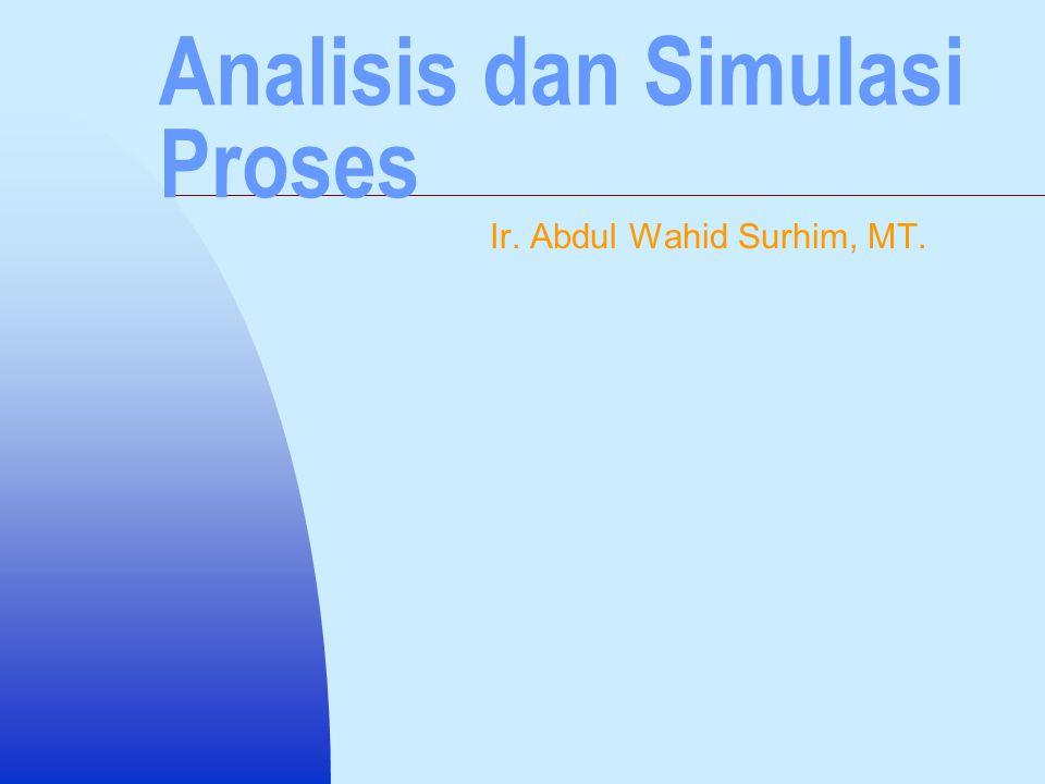Analisis dan Simulasi Proses Ir. Abdul Wahid Surhim, MT.