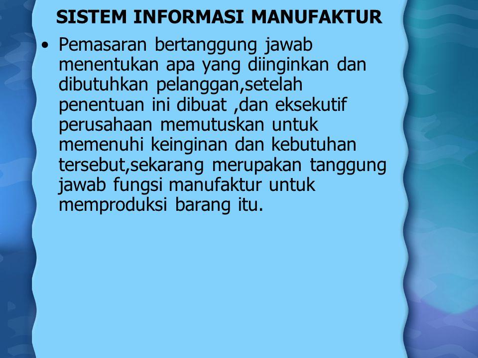 Manufaktur Manajemen manufaktur menggunakan komputer baik sebagai konseptual maupun sebagai suatu elemen dalam produksi fisik.