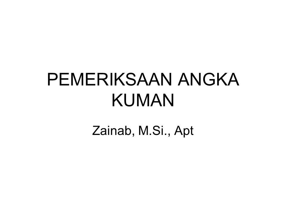 PEMERIKSAAN ANGKA KUMAN Zainab, M.Si., Apt
