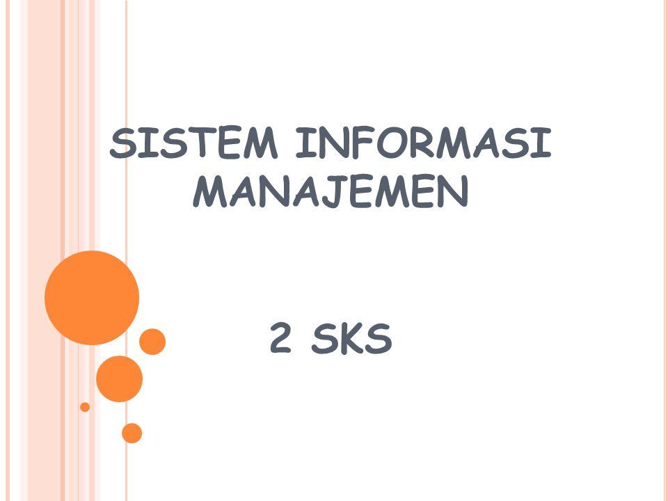 SI dalam organisasi Level operasional Pekerja pengetahuan Manajer madya Manajer puncak Sistem Pengolahan Transaksi Sistem M.