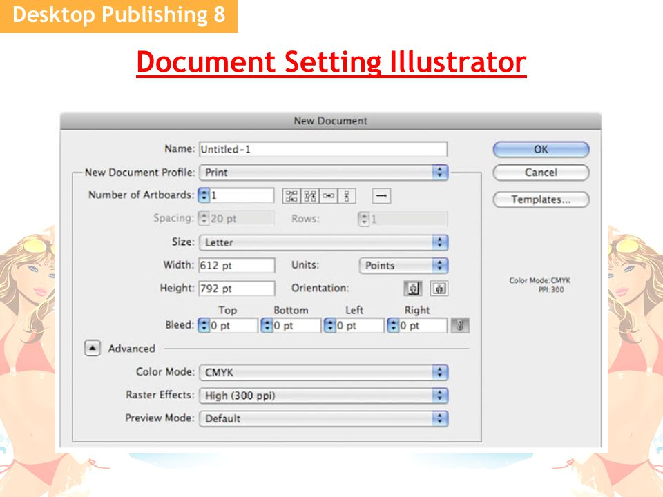 Desktop Publishing 8 Document Setting Illustrator