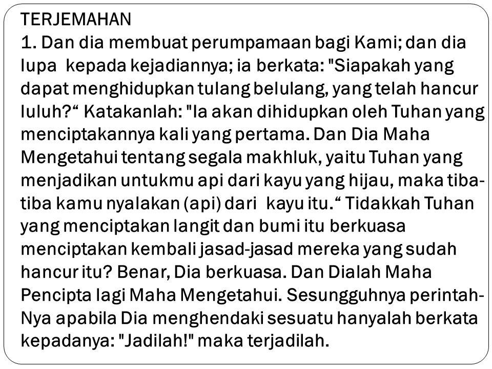 TERJEMAHAN 1.