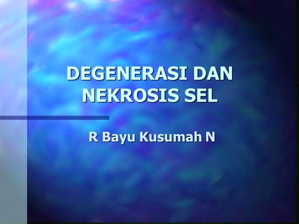 Introduction n Penyakit : kerusakan tubuh yang disebabkan oleh benda asing berbahaya (lesi/jejas/trauma) dan disertai reaksi tubuh sendiri (panas, nyeri, sakit, dll) n Kerusakan tubuh Degenerasi (kemunduran jaringan) Nekrosis (kematian sel)