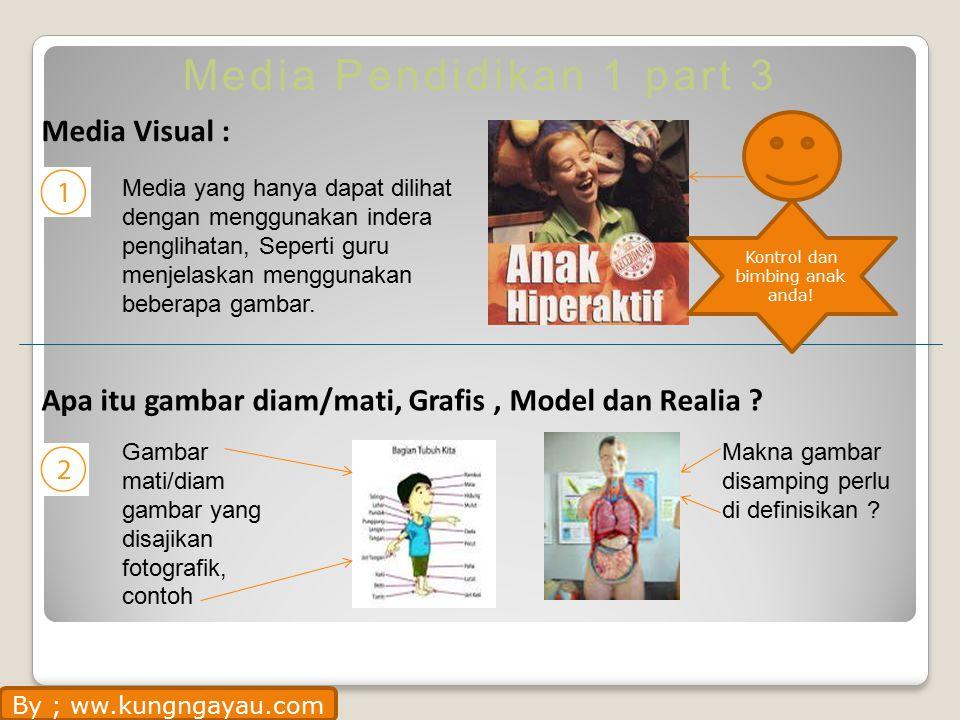 Media Pendidikan 1 part 3 Media Visual : Apa itu gambar diam/mati, Grafis, Model dan Realia .