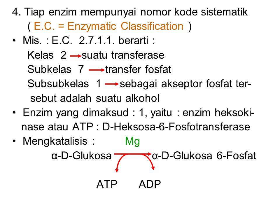 Contoh : Alkohol dehidrogenase = 1.1.1.1 Alkohol : NAD Oksidoreduktase Reaksinya : Alkohol + NAD Aldehid atau Keton * Alkohol sebagai substrat * NAD s
