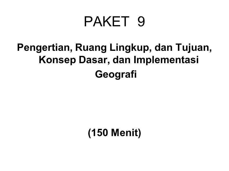 Tujuan Geografi 5.