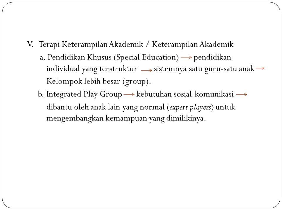 V.Terapi Keterampilan Akademik / Keterampilan Akademik a.