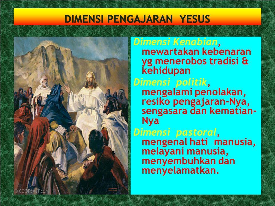 Yesus adalah 'Immanuel', Allah beserta kita. Mengerjakan pekerjaan Allah untuk penebusan & keselamatan manusia. Mengantar manusia pada pertobatan yg p