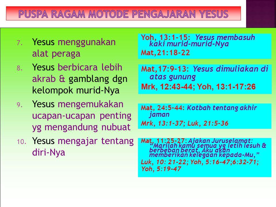 7.Yesus menggunakan alat peraga 8.