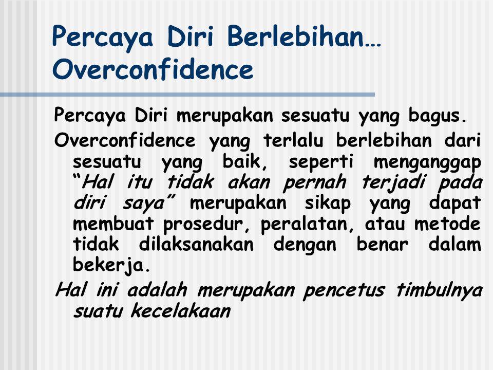 Percaya Diri Berlebihan… Overconfidence Percaya Diri merupakan sesuatu yang bagus.