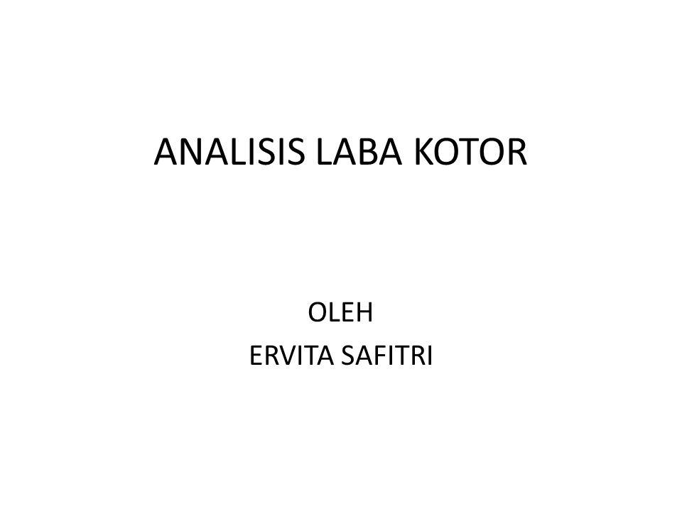 ANALISIS LABA KOTOR OLEH ERVITA SAFITRI
