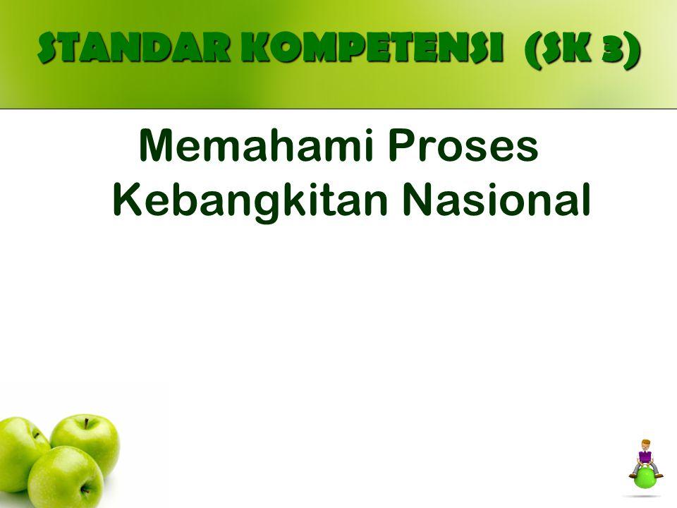 STANDAR KOMPETENSI (SK 3) Memahami Proses Kebangkitan Nasional