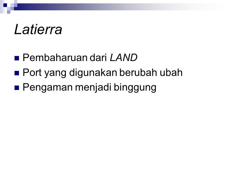 Latierra Pembaharuan dari LAND Port yang digunakan berubah ubah Pengaman menjadi binggung