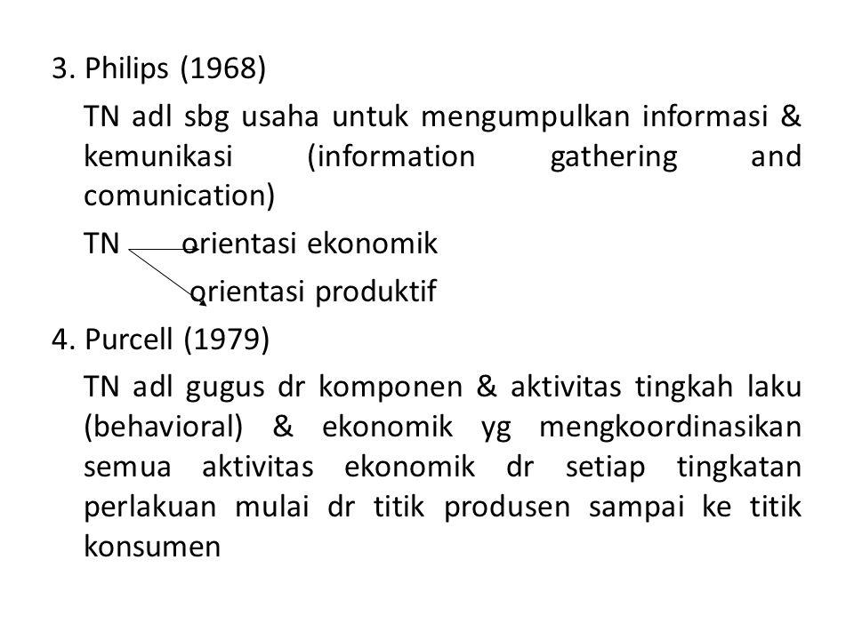 DEFINISI-DEFINISI 1.Kohls and Downey (1973) Proses TN terjadi setelah proses produksi selesai, shg proses TN mulai terjadi di pintu usaha tani ternakn