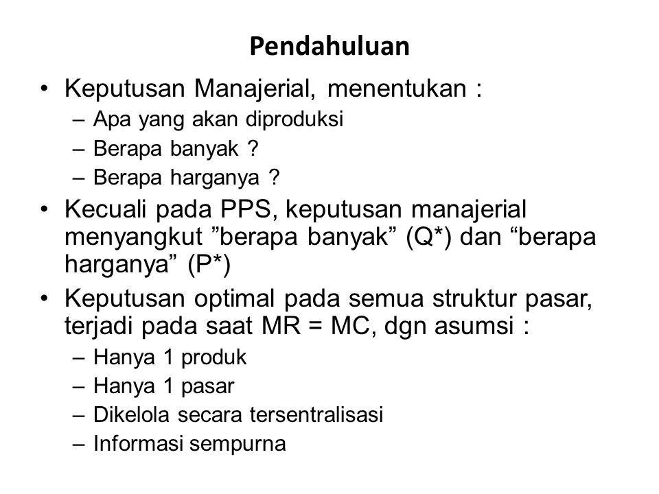 Transfer Pricing No External Market Transfer Price = P t MC of Intermediate Good = MC p P t = MC p