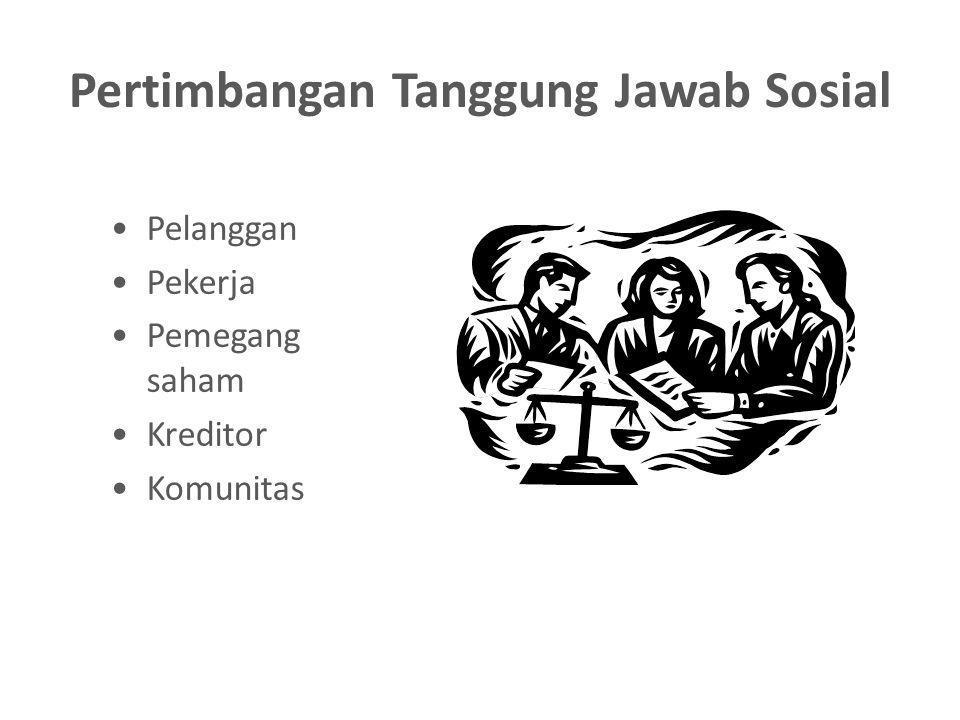 Pertimbangan Tanggung Jawab Sosial Pelanggan Pekerja Pemegang saham Kreditor Komunitas