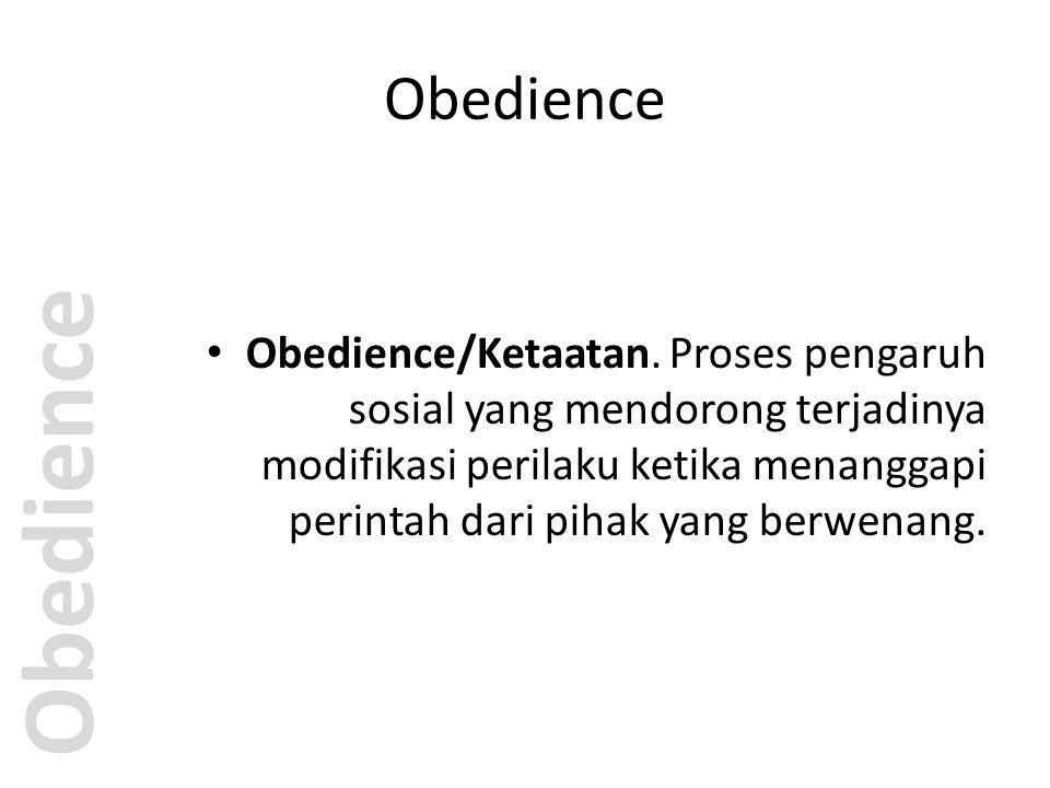 Milgram's experiment Obedience