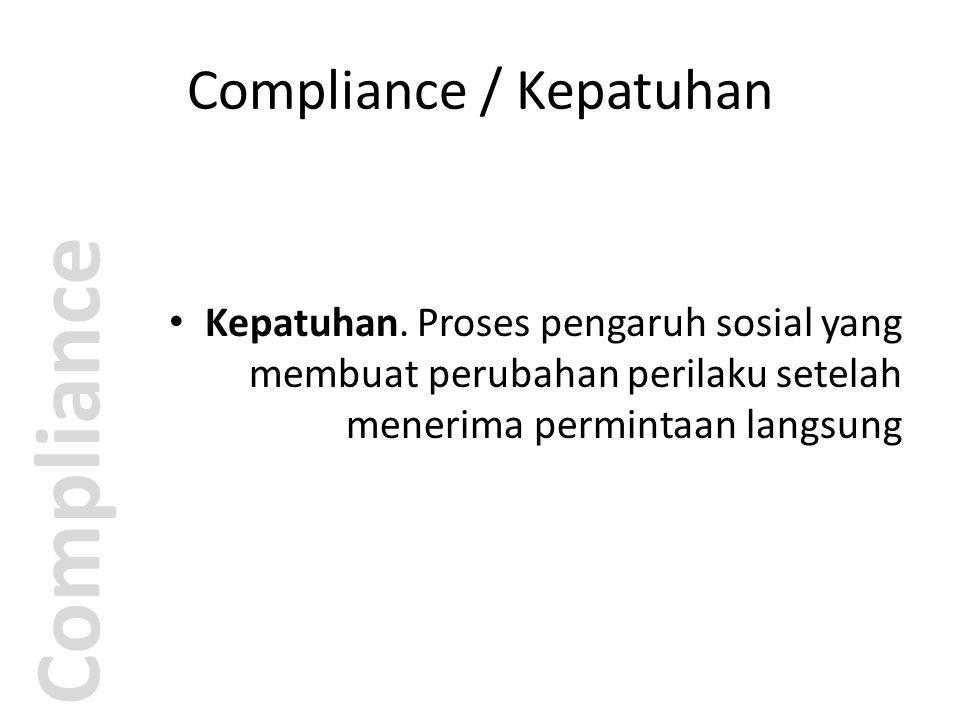 Compliance / Kepatuhan Compliance Foot-in-the-door technique (FITD).