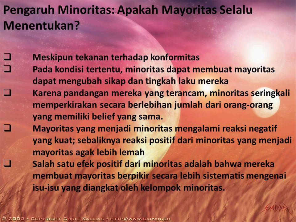 Pengaruh Minoritas: Apakah Mayoritas Selalu Menentukan.