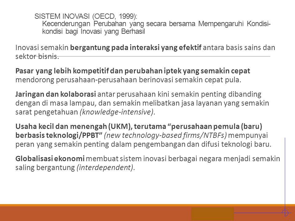 STIE MDP SISTEM INOVASI (OECD, 1999): Kecenderungan Perubahan yang secara bersama Mempengaruhi Kondisi- kondisi bagi Inovasi yang Berhasil Inovasi sem