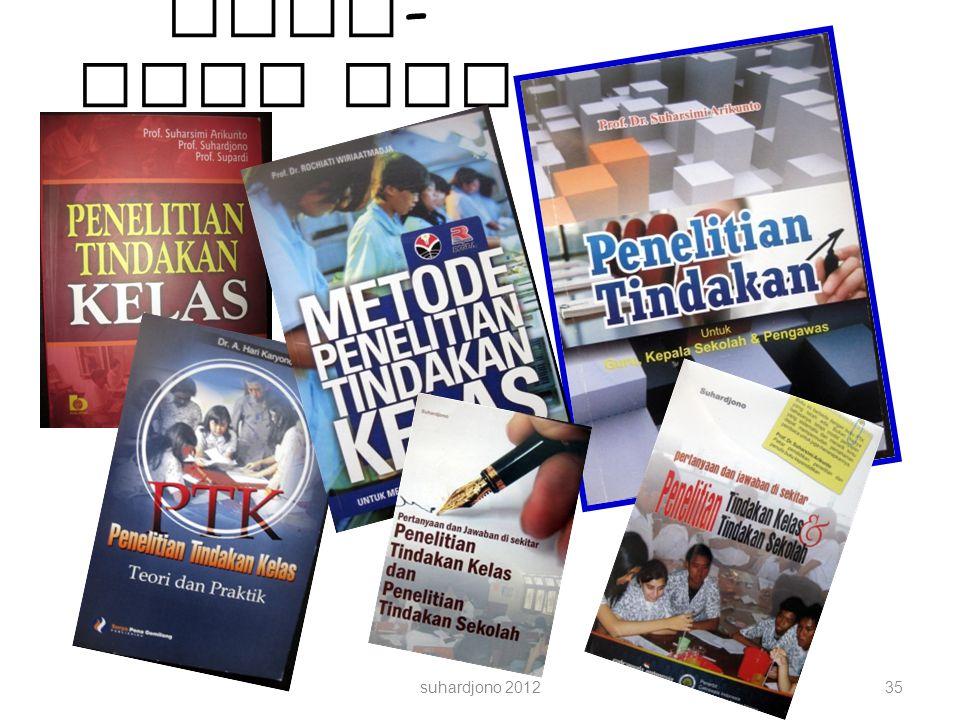 Buku - buku PTK suhardjono 201235
