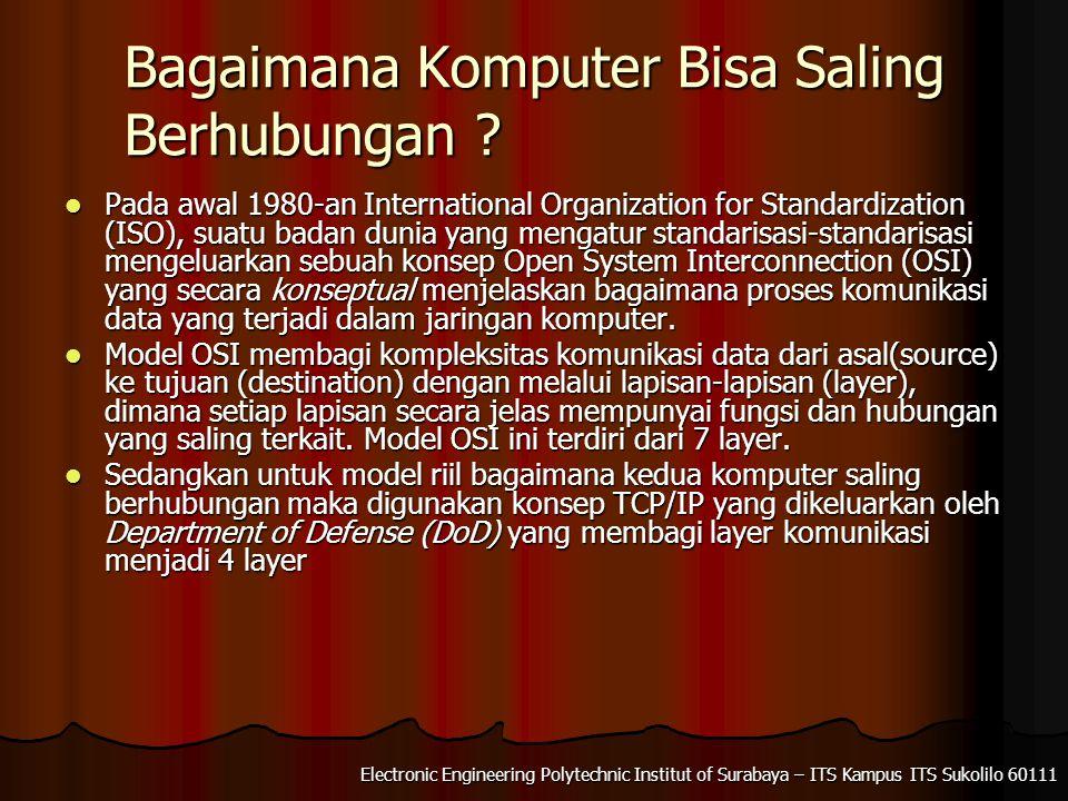 Electronic Engineering Polytechnic Institut of Surabaya – ITS Kampus ITS Sukolilo 60111 Bagaimana Komputer Bisa Saling Berhubungan .