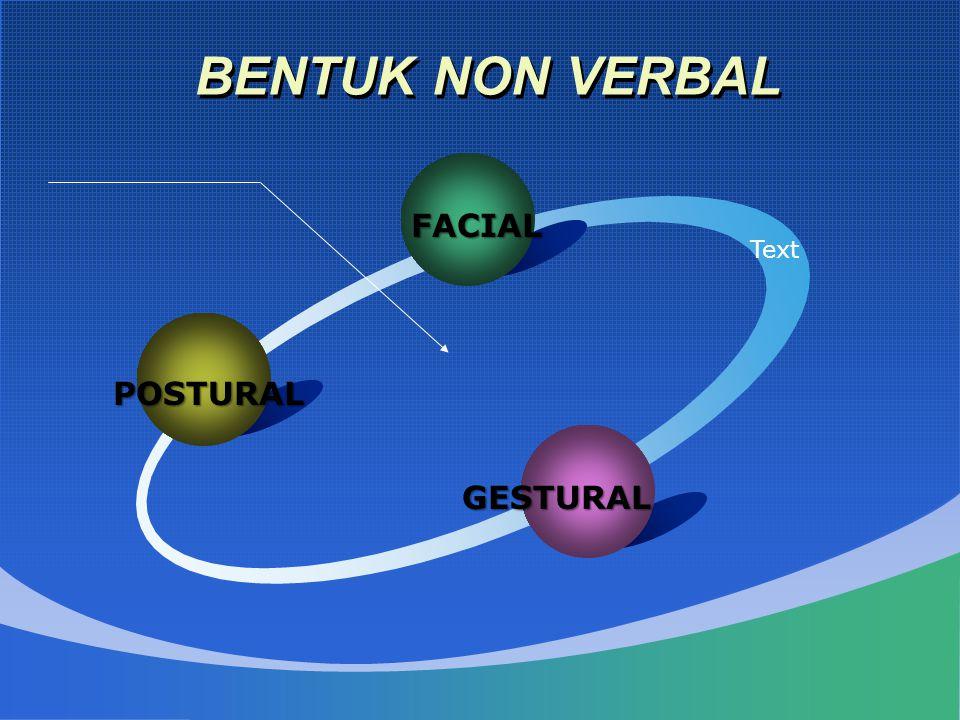 BENTUK NON VERBAL POSTURAL FACIAL Text GESTURAL