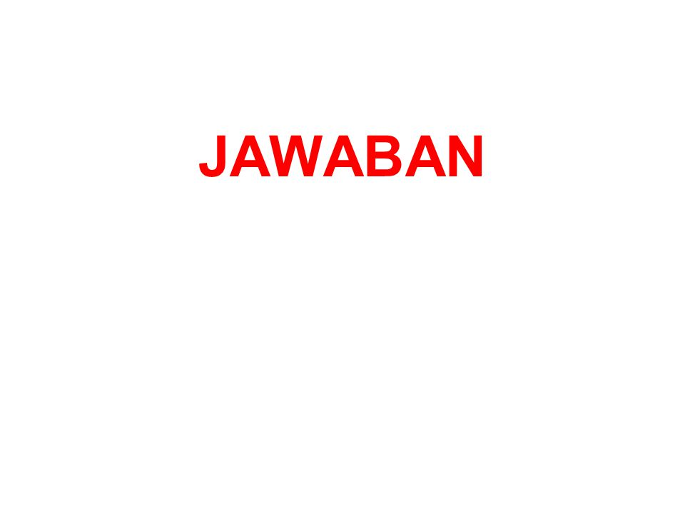 JAWABAN