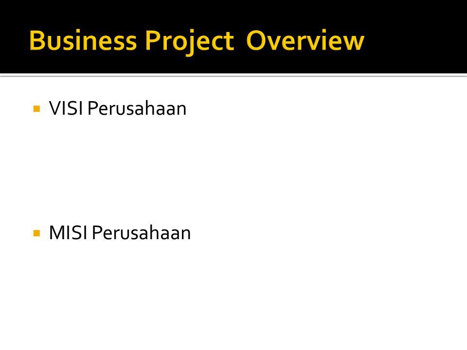  VISI Perusahaan  MISI Perusahaan
