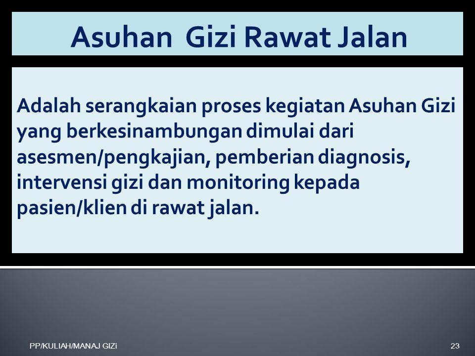 Asuhan Gizi Rawat Jalan PP/KULIAH/MANAJ GIZi23