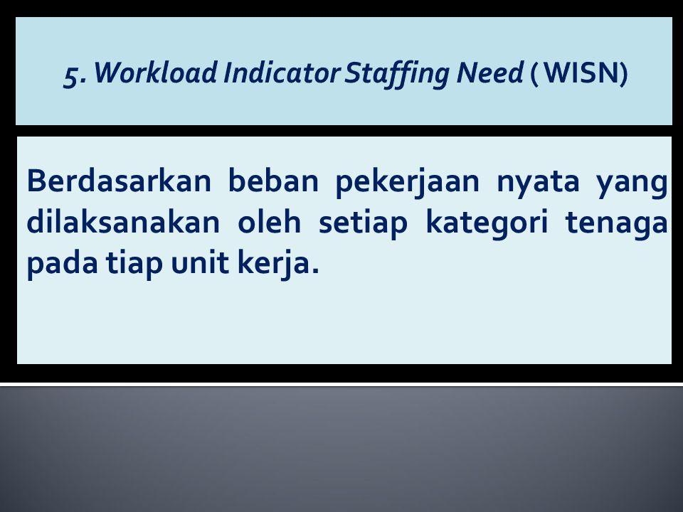 Berdasarkan beban pekerjaan nyata yang dilaksanakan oleh setiap kategori tenaga pada tiap unit kerja.