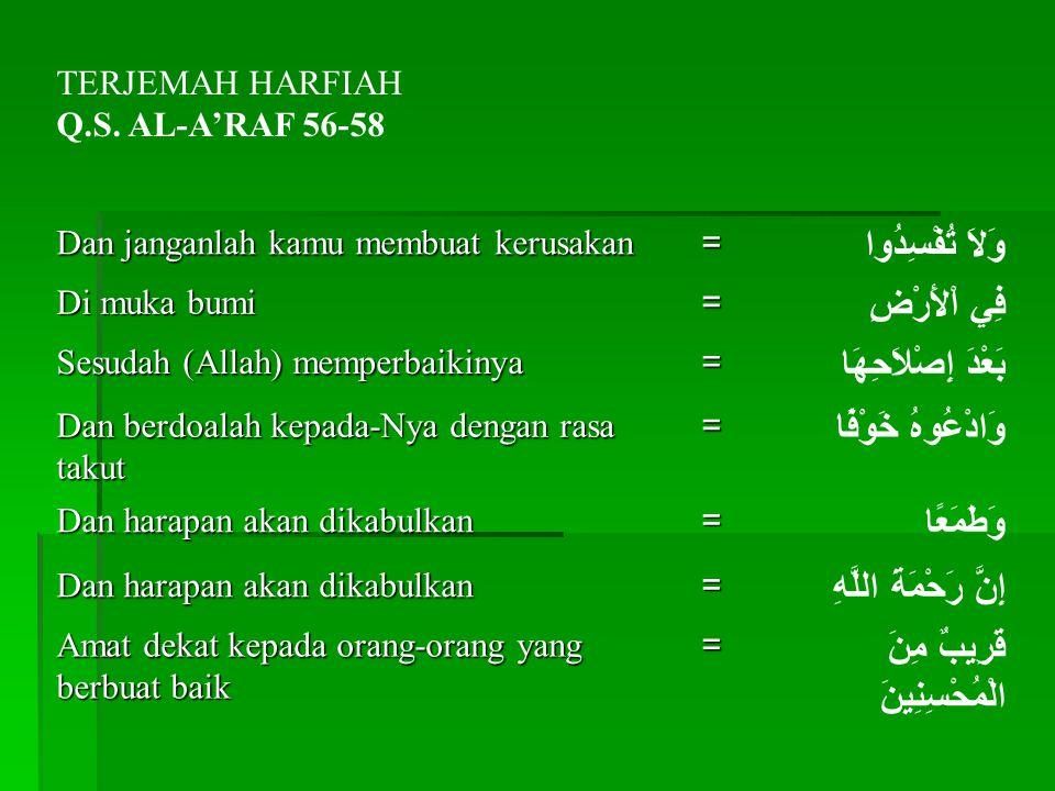 TERJEMAH HARFIAH Q.S.