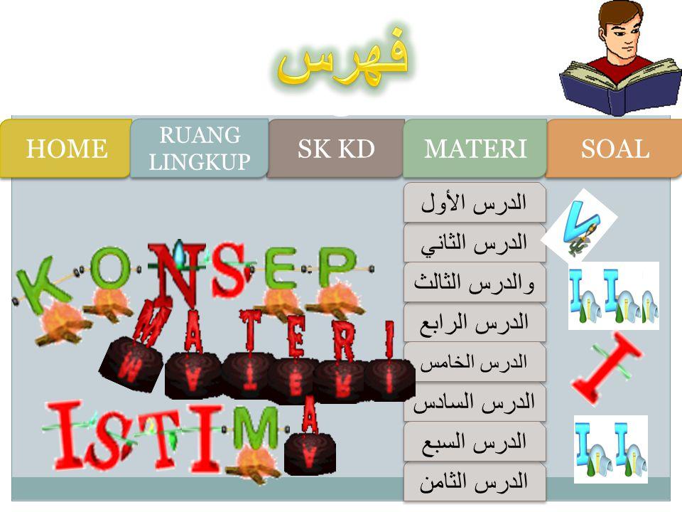 KOMPETENSI DASARSTANDART KOMPETENSI 1.1 Mengidentifikasi bunyi huruf hijaiyah dan ujaran (kata, frase atau kalimat) tentang: الساعة - النشاطات في المدرسة - النشاطات في البيت 1.2 Menemukan informasi dari wacana lisan sederhana tentang : الساعة - النشاطات في المدرسة - النشاطات في البيت 1.3 Merespon gagasan yang terdapat pada wacana lisan atau dialog sederhana tentang: الساعة - النشاطات في المدرسة - النشاطات في البيت Menyimak Memahami informasi lisan melalui kegiatan mendengarkan dalam bentuk paparan atau dialog sederhana tentang jam/pukul berapa, kegiatan di madrasah dan kegiatan di rumah