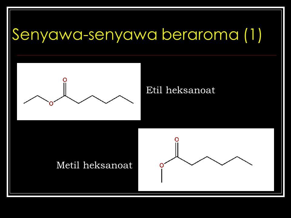 Senyawa-senyawa beraroma (1) Etil heksanoat Metil heksanoat