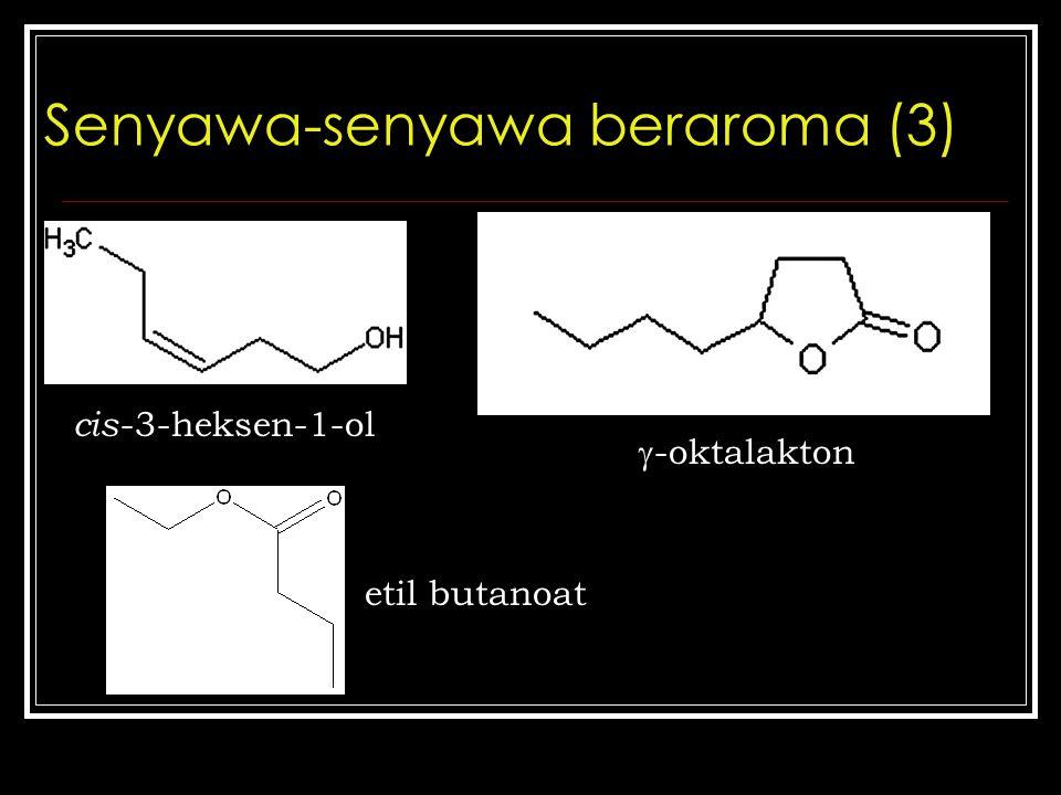 Senyawa-senyawa beraroma (3) cis -3-heksen-1-ol  -oktalakton etil butanoat