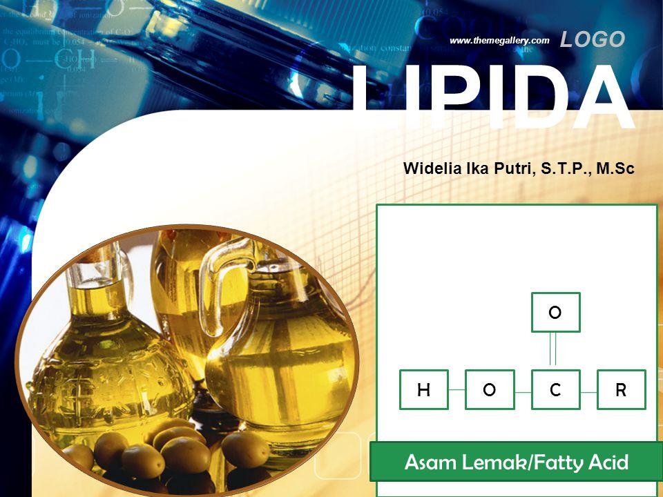 LOGO Sifat-sifat Lipida www.themegallery.com kelarutannya Pengaruh panas Ketengikan Saponifikasi plastisitas