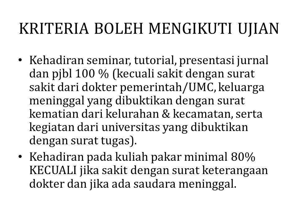 Kriteria Berpakaian saat Aktivitas Pembelajaran (KP, tutorial, presjur dan PjBl) Sesuai dengan peraturan fakultas Tidak diperkenankan menggunakan baju berjenis kaos baik laki-laki maupun perempuan (terutama dirangkap dengan jaket)