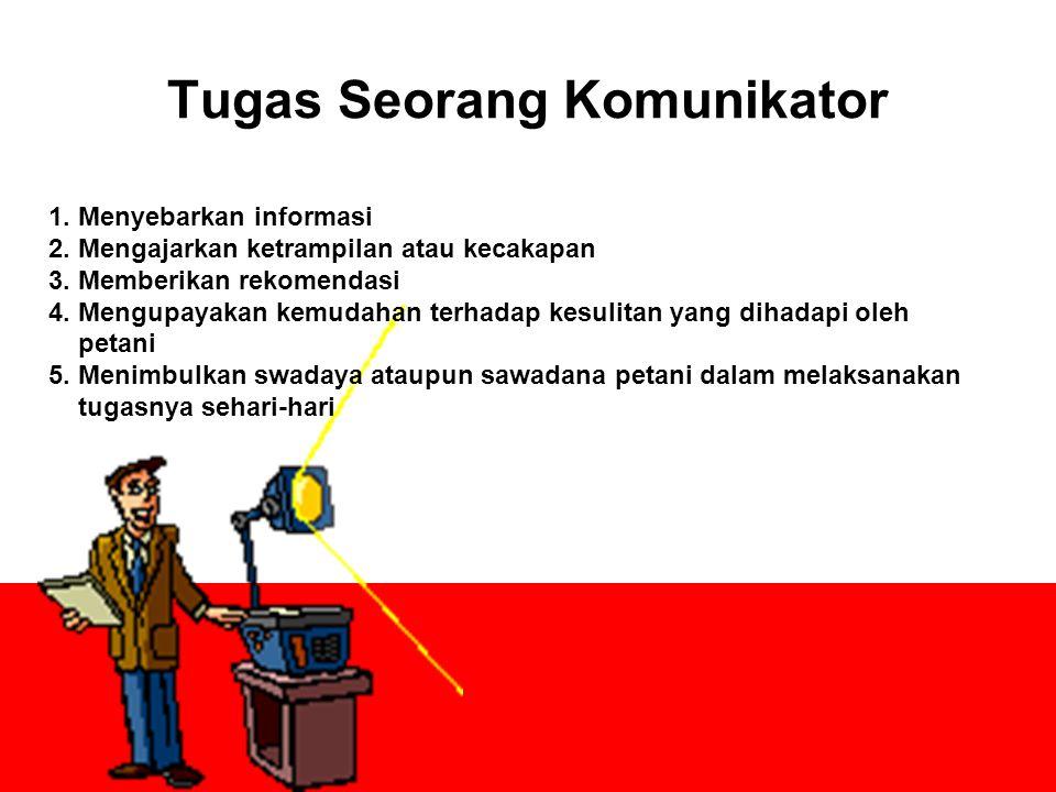 Tugas Seorang Komunikator 1.Menyebarkan informasi 2.