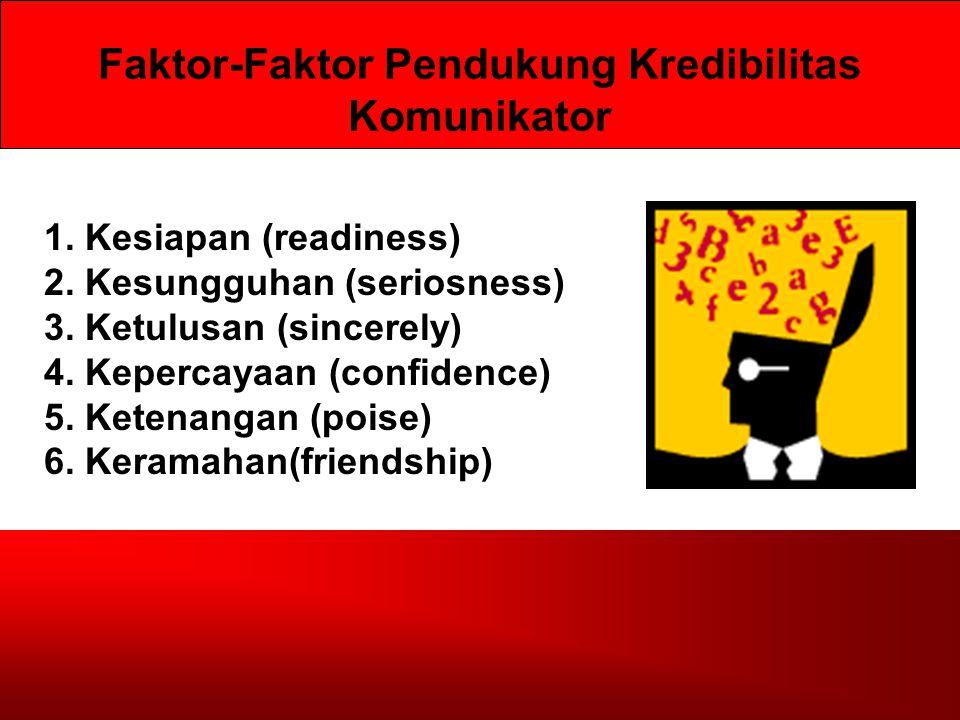Faktor-Faktor Pendukung Kredibilitas Komunikator 1.