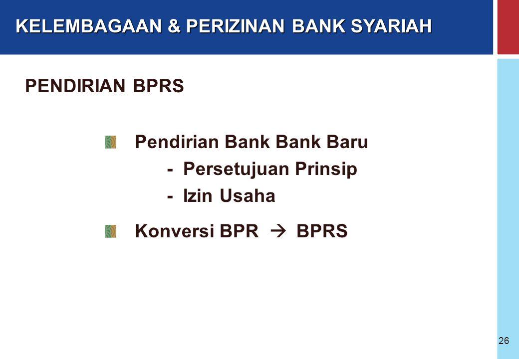 Bank Indonesia @ 2005 25 Kepemilikan : WNI badan hukum Indonesia yang seluruh pemiliknya WNI Pemerintah Daerah Gabungan ketiganya Kepengurusan terdiri