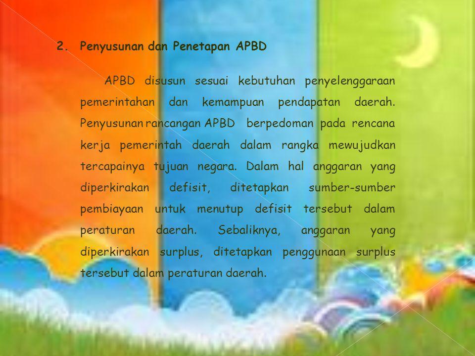 Pemerintah daerah menyampaikan kebijakan umum APBD tahun berikutnya sejalan dengan rencana kerja pemerintah daerah sebagai landasan penyusunan RAPBD kepada DPRD selambat-lambatnya pertengahan Juni tahun berjalan.
