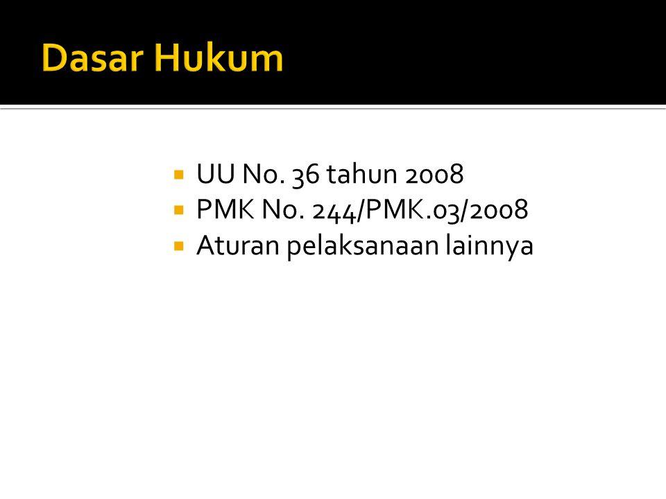 Investasi INVESTOR INVESTEE Dividen bukan Objek PPh bila: Dividen berasal dari laba ditahan Investor adalah: WP DN, Koperasi, BUMN dan BUMD Investee: Badan usaha yang didirikan dan bertempat kedudukan di Indonesia Investasi dengan penyertaan minimal 25%