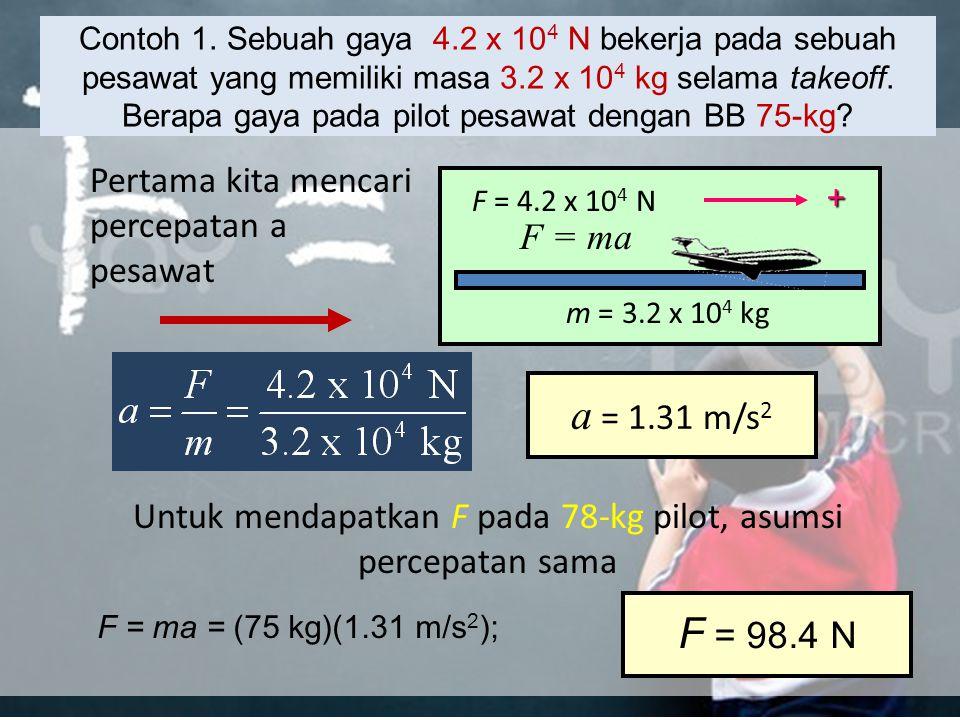 Apa kata F = m a ? Sesuatu yang sangat besar (massa yang tinggi) yang mengubah kecepatan sangat lambat (akselerasi rendah), seperti gletser, masih bis