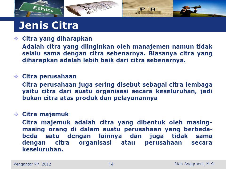 L o g o  Citra yang diharapkan Adalah citra yang diinginkan oleh manajemen namun tidak selalu sama dengan citra sebenarnya.