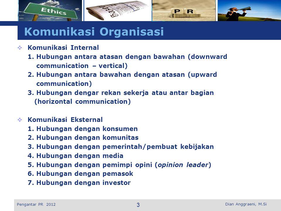 L o g o Komunikasi Organisasi  Komunikasi Internal 1.